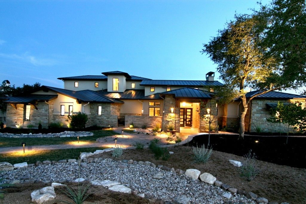 Front Elevation Hill Country Modern by Zbranek & Holt