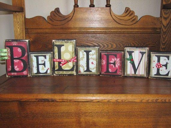 Best 25+ Wooden Block Letters Ideas On Pinterest