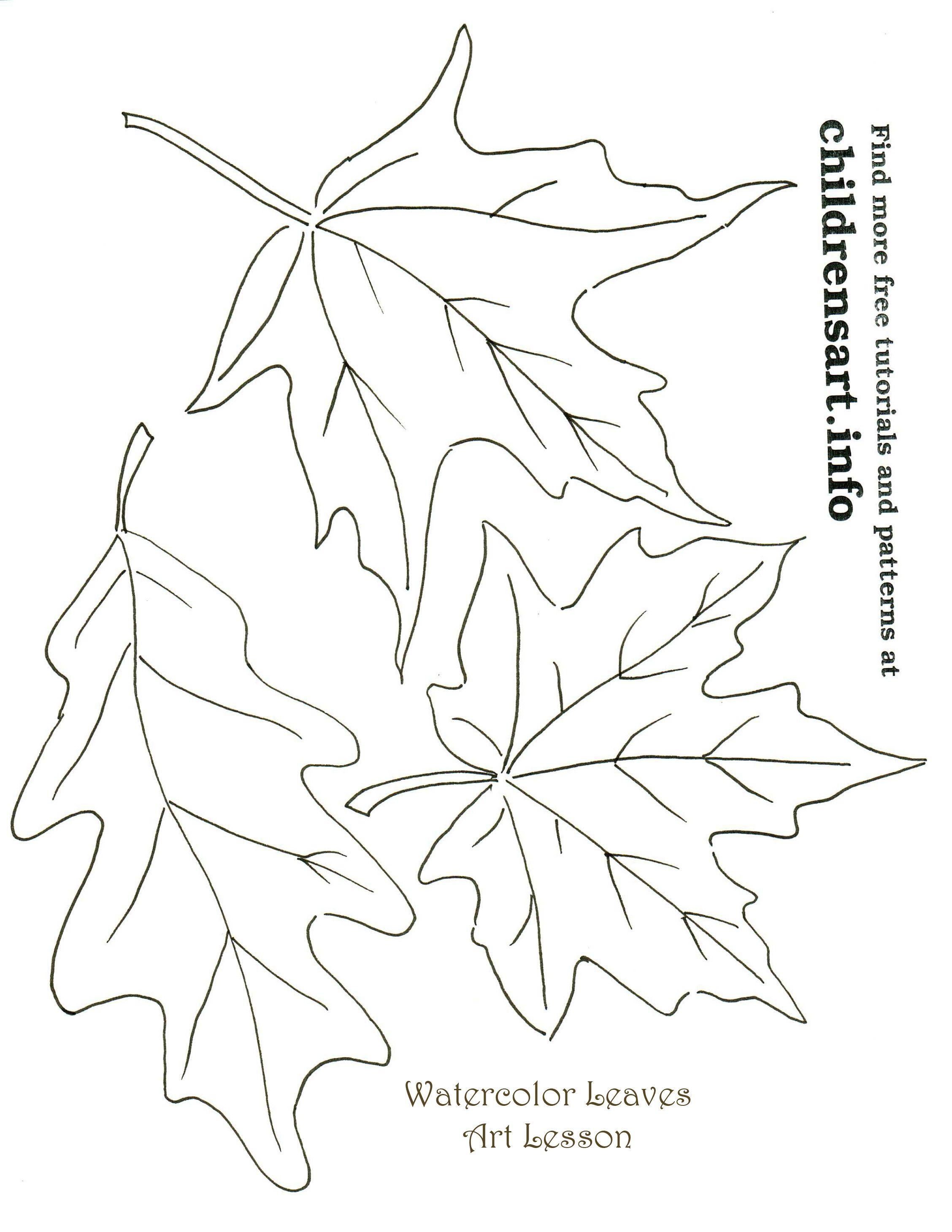 Autumn Leaves Watercolor Art Tutorial Templates
