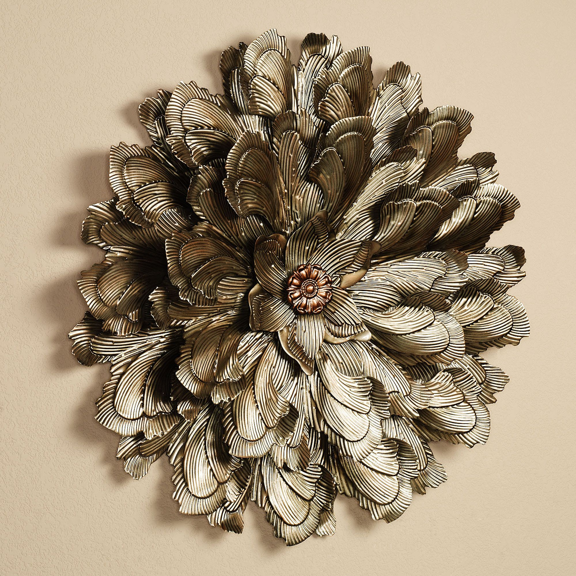 Delicate Flower Blossom Metal Wall Sculpture Wall