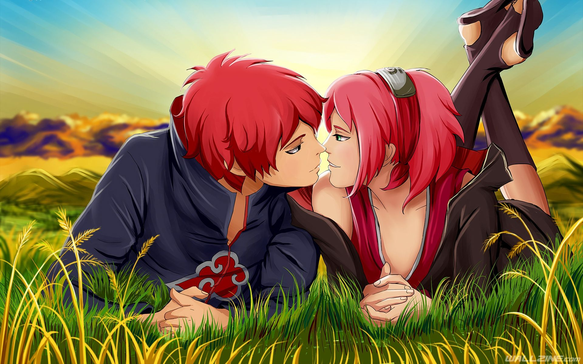 naruto kiss sakura sasori wallpaper | hd desktop wallpapers