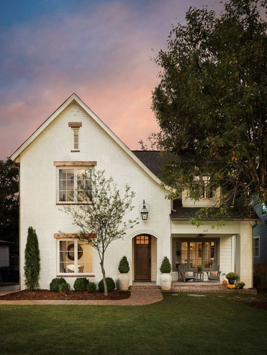Off White Brick Exterior Paint Color Oyster Sw 7637 By Sherwin William