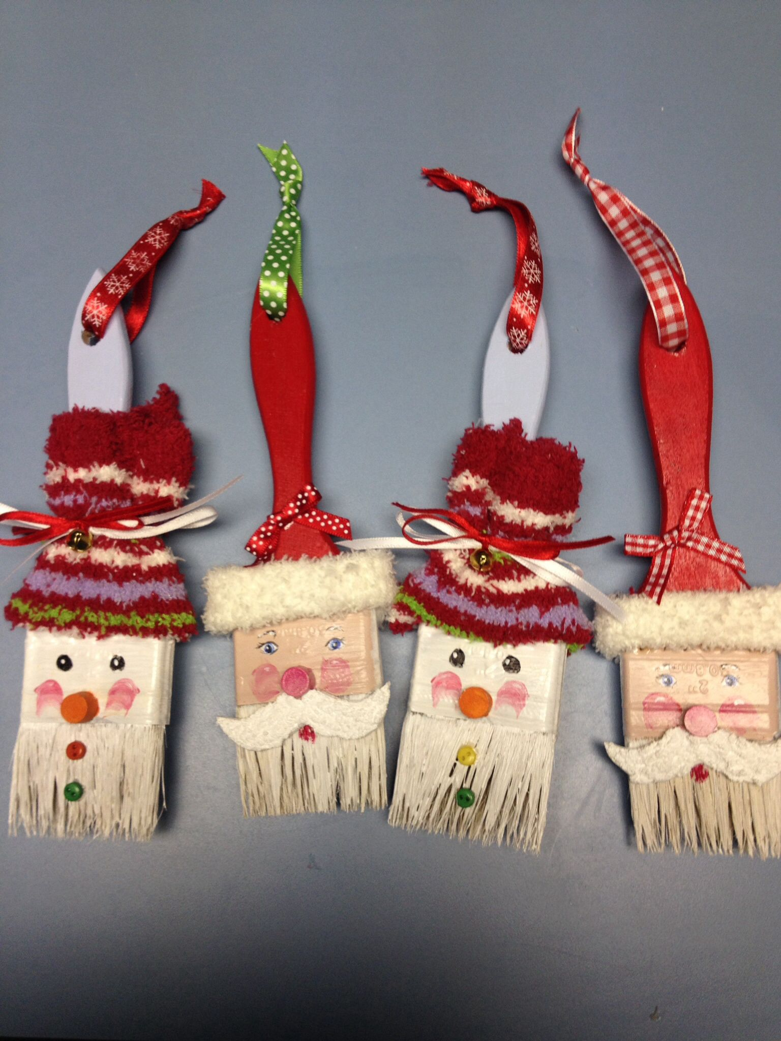 Paintbrush ornaments. Navidad Pinterest Ornament