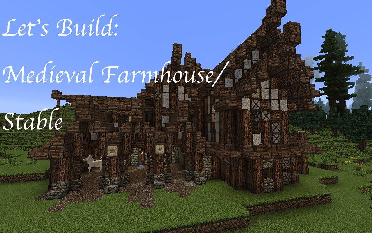 Minecraft Let's Build A Medieval Farm Farmhouse