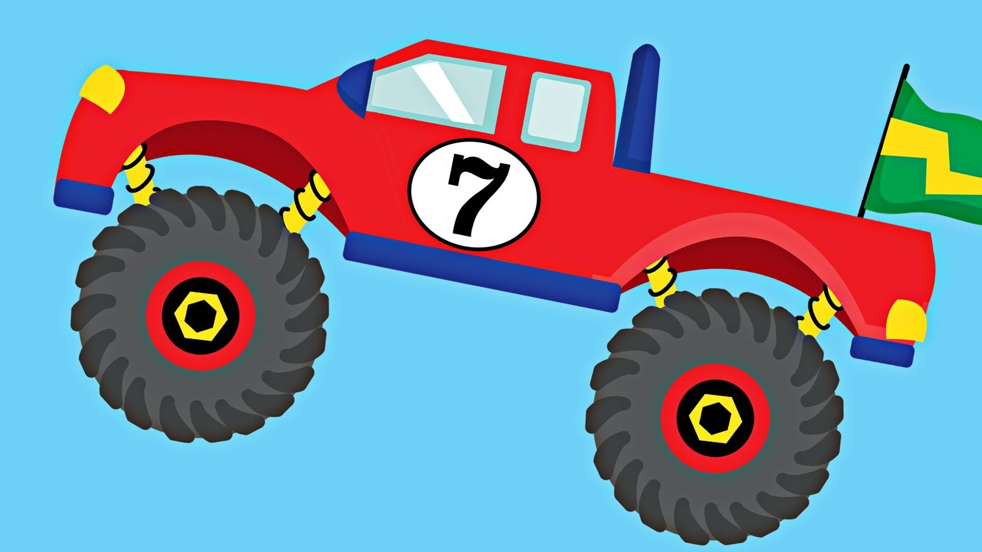 Monster Trucks Teaching Numbers 1 to 10 Number Counting