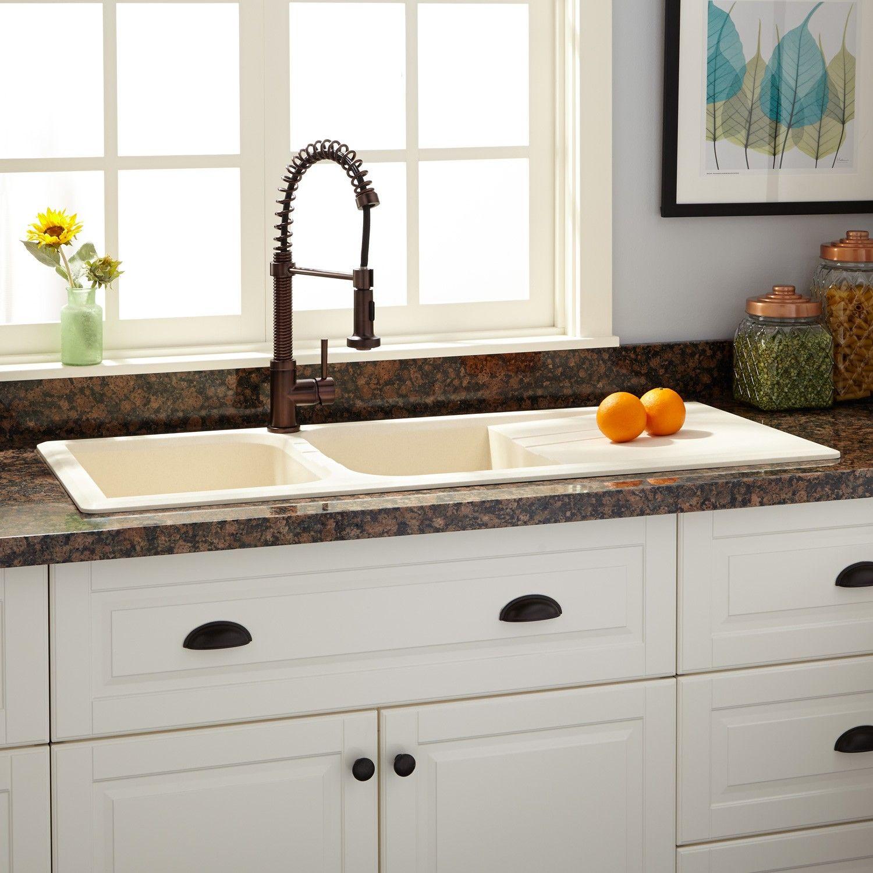 "46"" Owensboro DoubleBowl DropIn Granite Composite Sink"