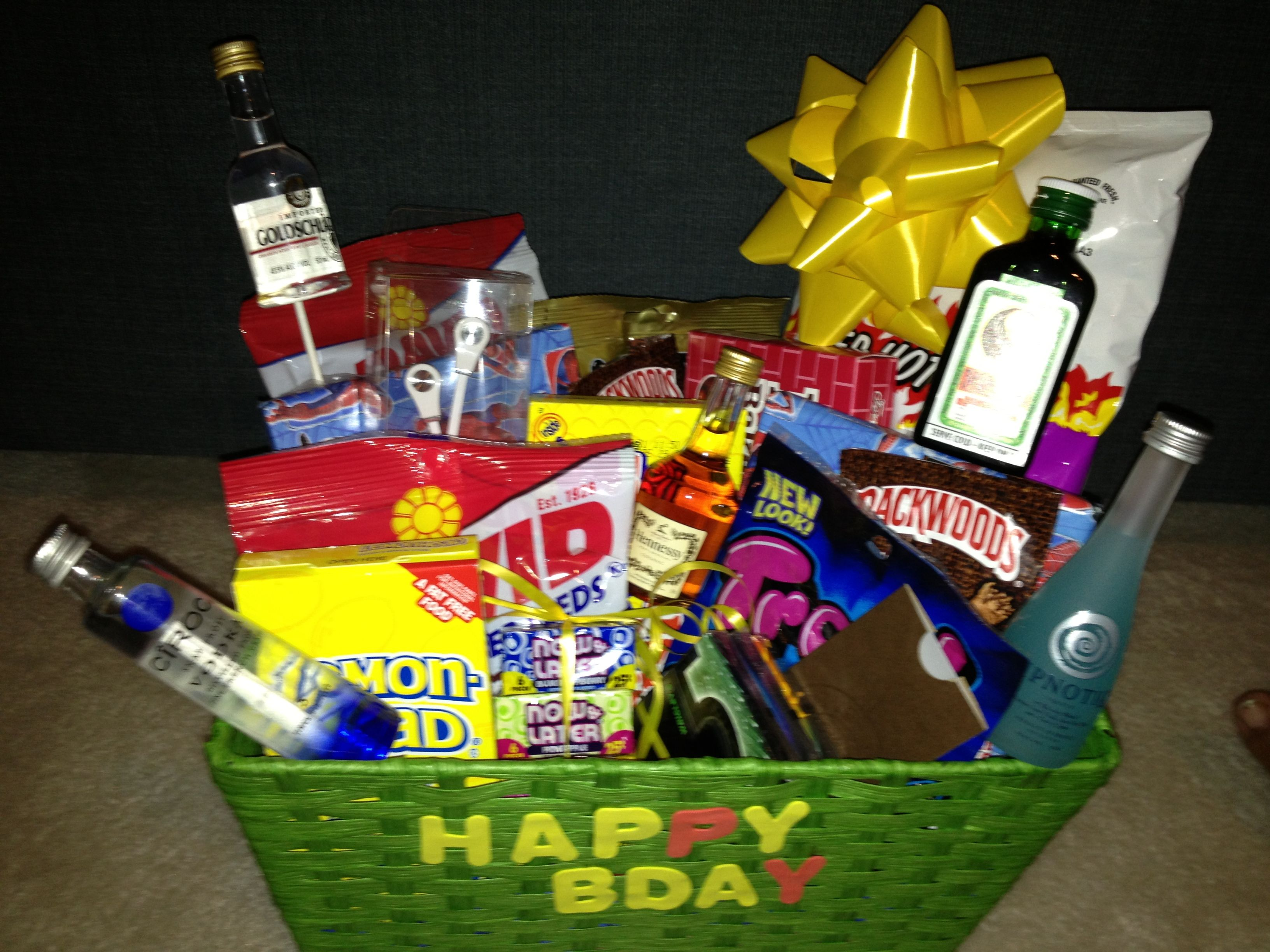 Boyfriend Birthday Gift Basket