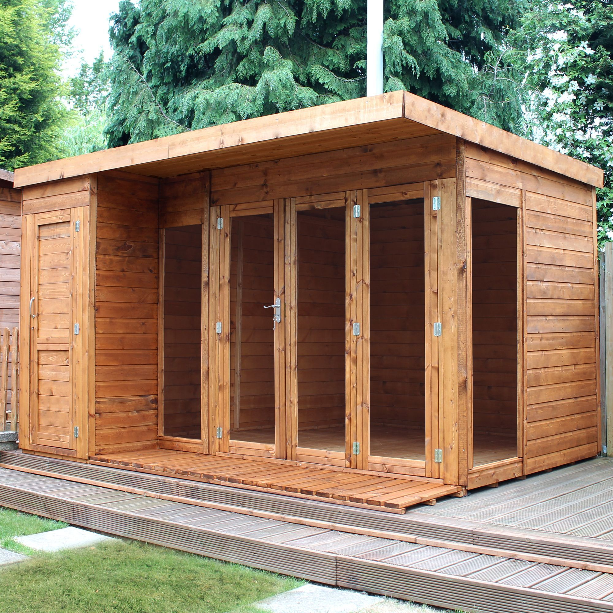 12X8 Combi Garden Room Shiplap Timber Summerhouse & Store