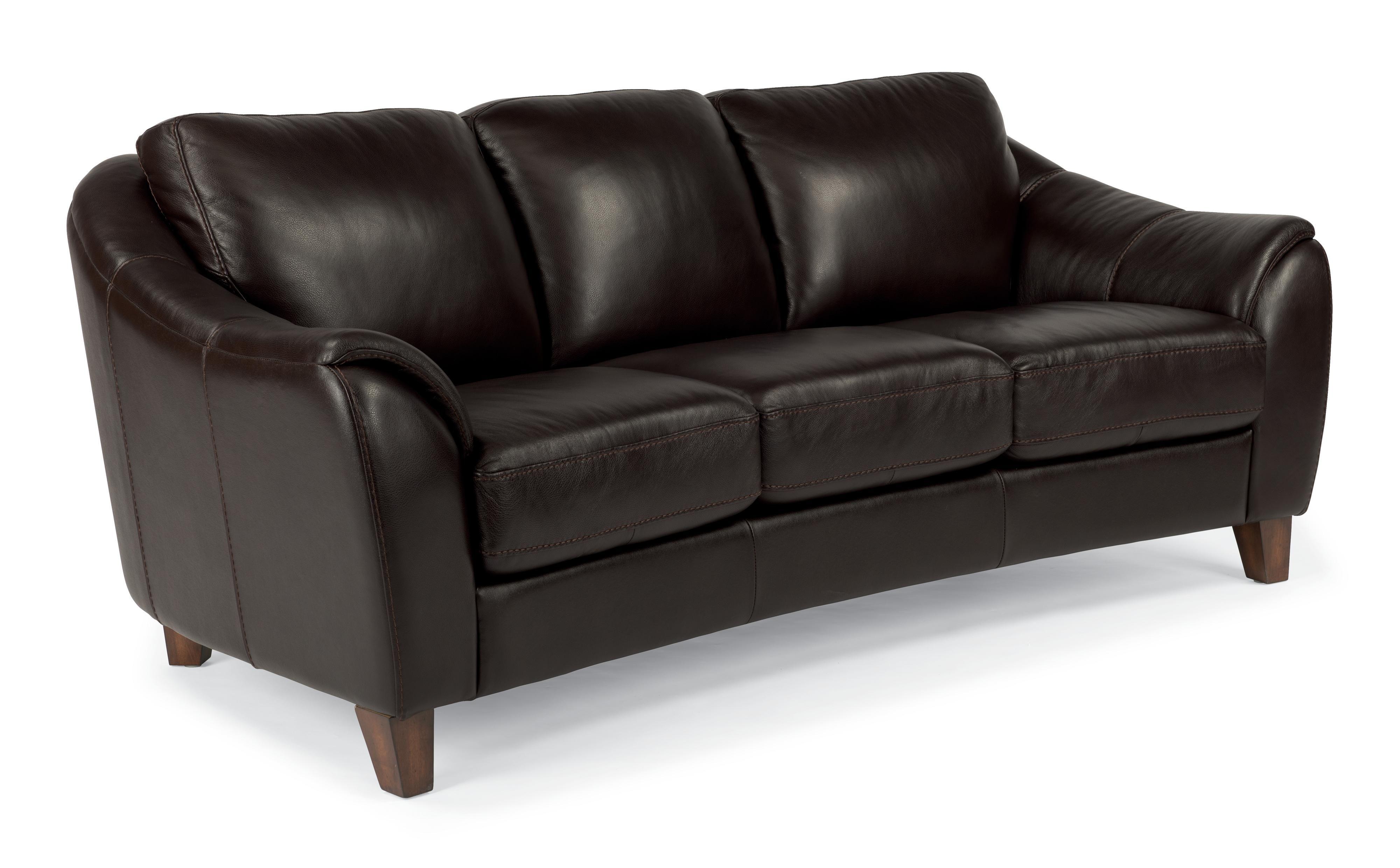 Flexsteel Latitudes-Lidia Contemporary Leather Sofa With