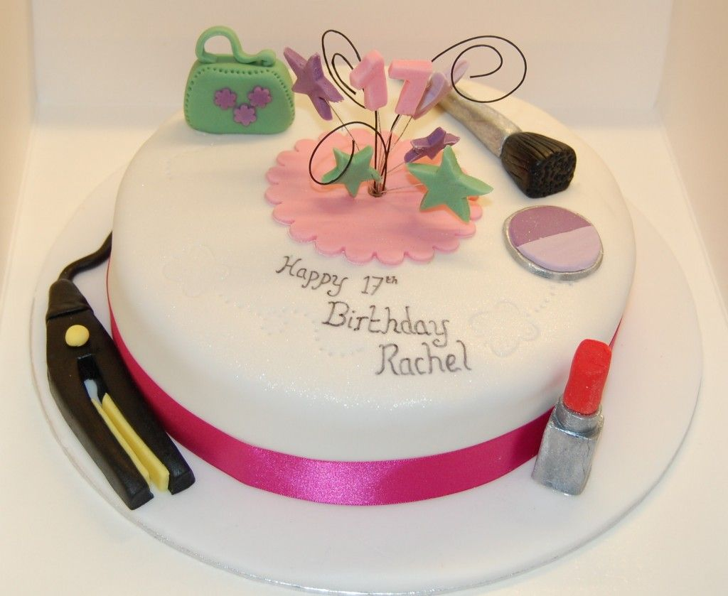 Simple Birthday Cake For Girls 17th