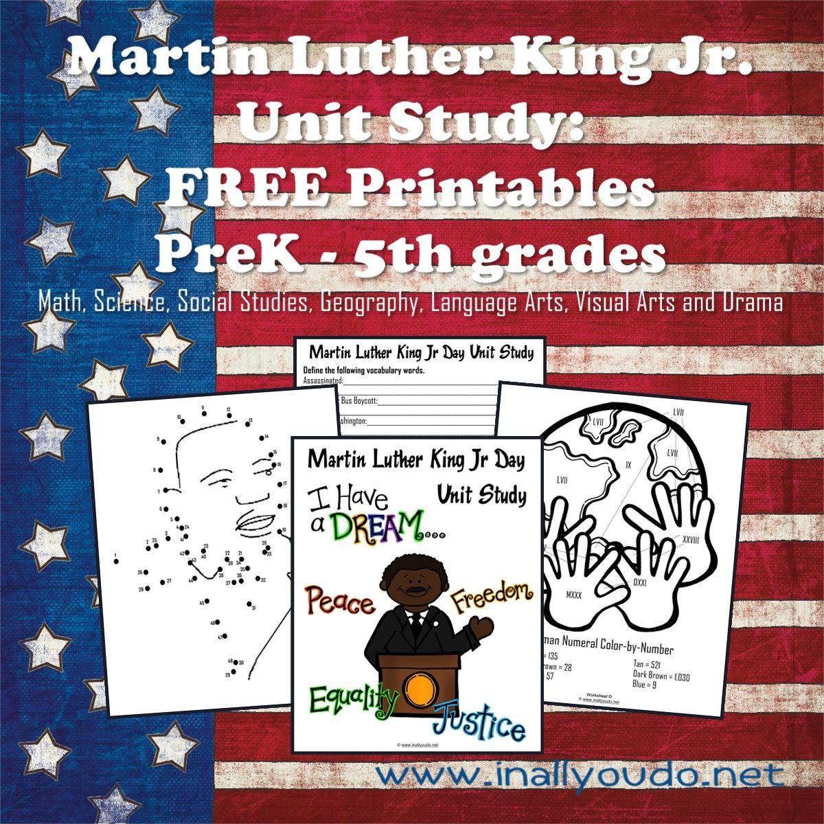 Martin Luther King Jr Printables Free