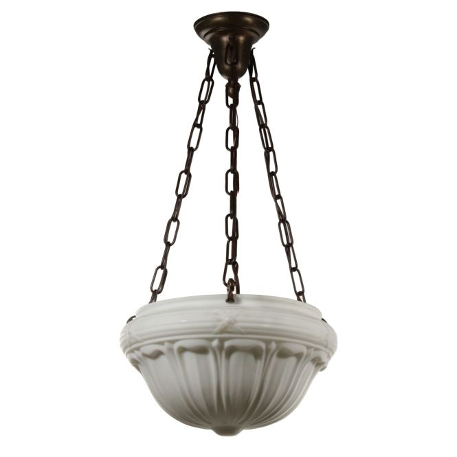 Antique Neoclassical Inverted Dome Chandelier C 1910 Preservation Station