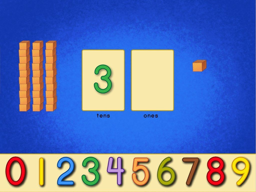 Excellent Interactive Board For Place Value It Has Base 10 Blocks Numbers And Animation For