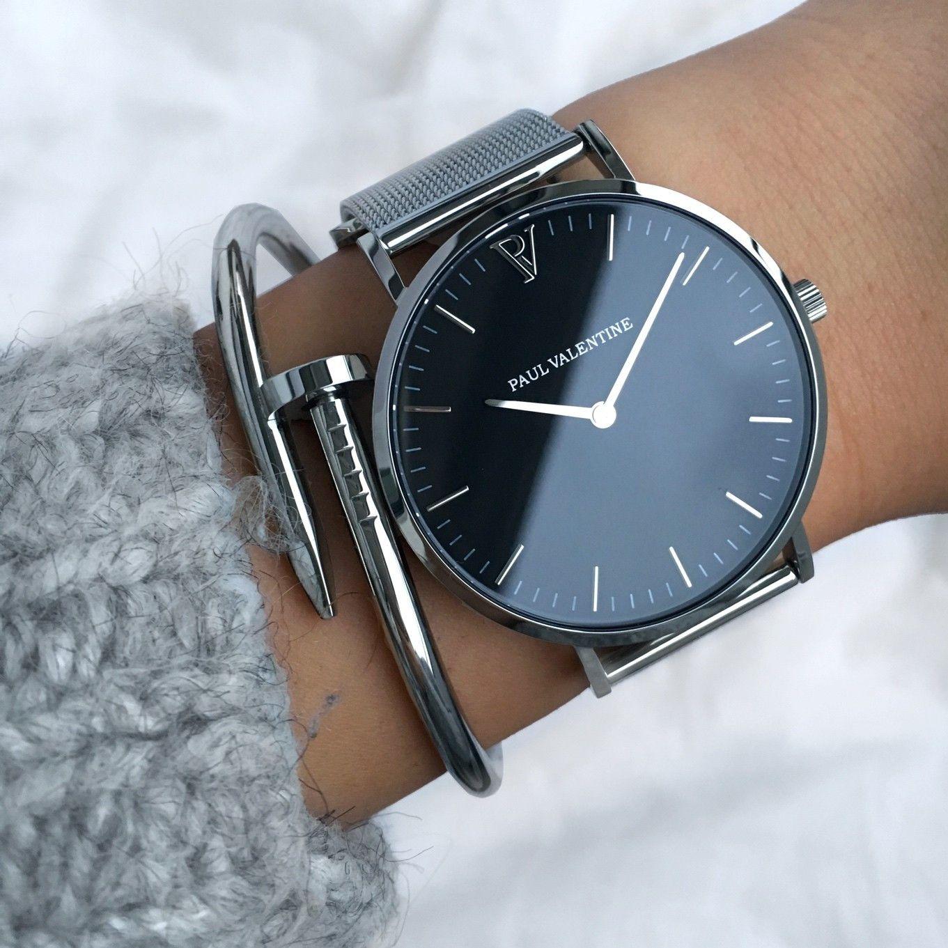 Pearl Silver Mesh 36mm Uhren Schmuck Und Modische