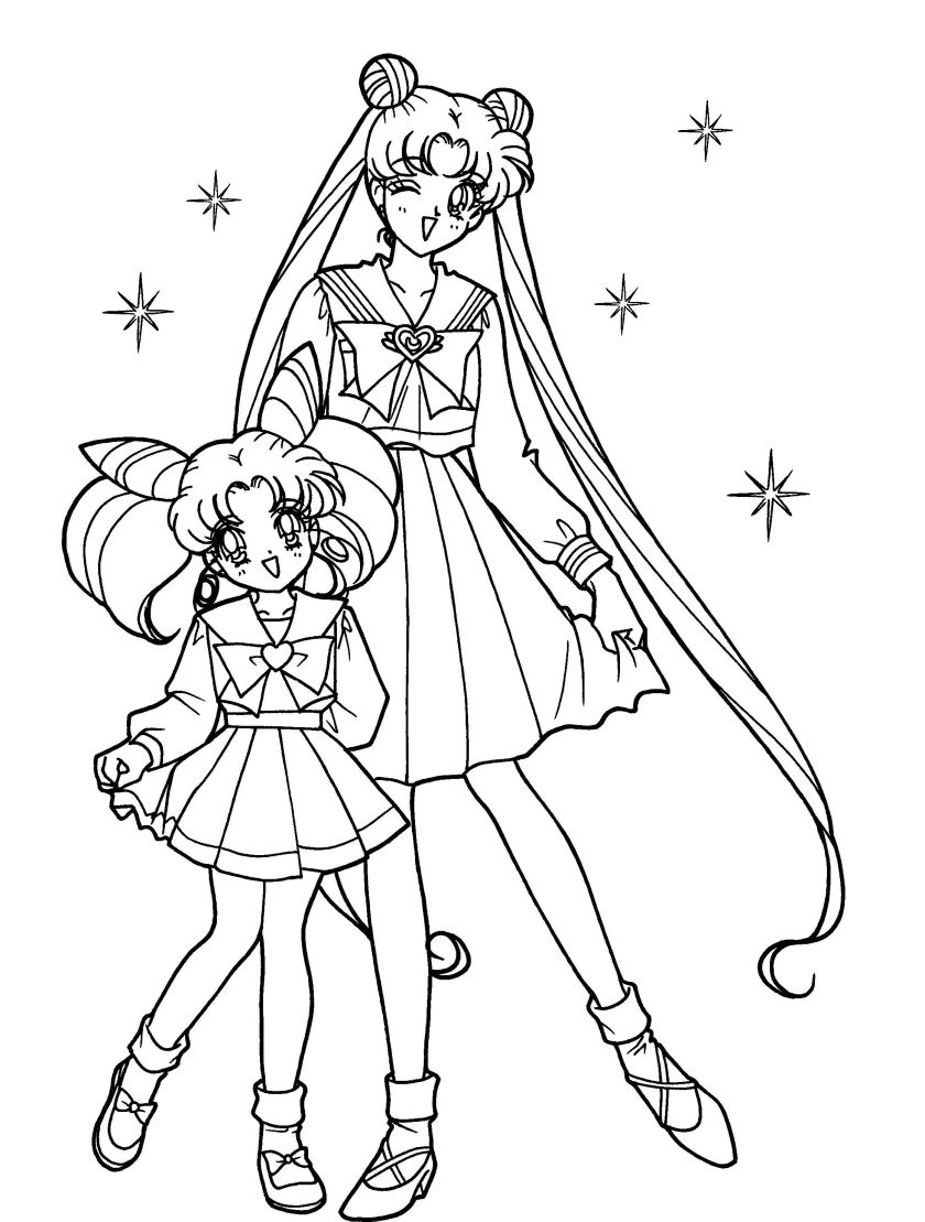 sailor moon  sister coloring pages  sailor moon