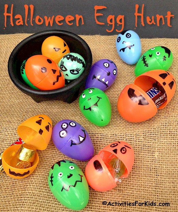 Halloween Egg Hunt Party Game for Kids Halloween party