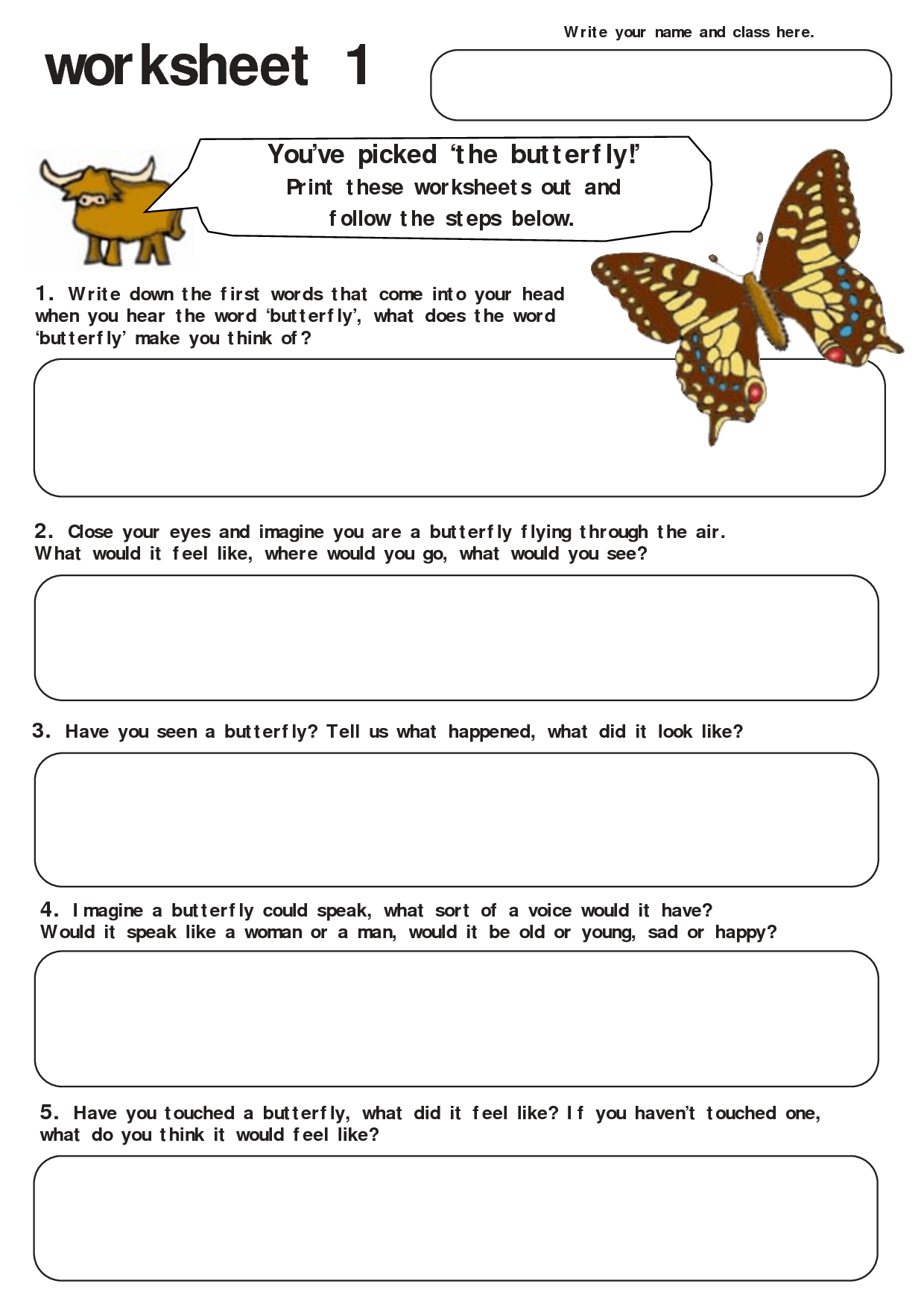 Butterflies Worksheet Grade 2