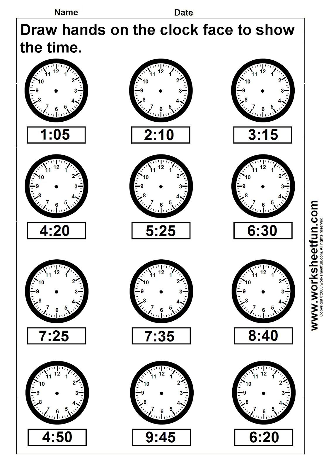 Practice Telling Time Worksheet 5th Grade