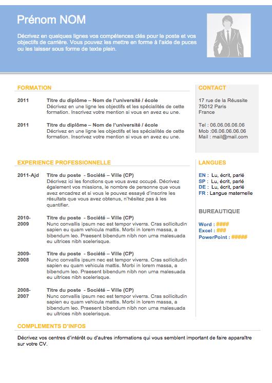 Modèle de cv pour étudiant CV Pinterest