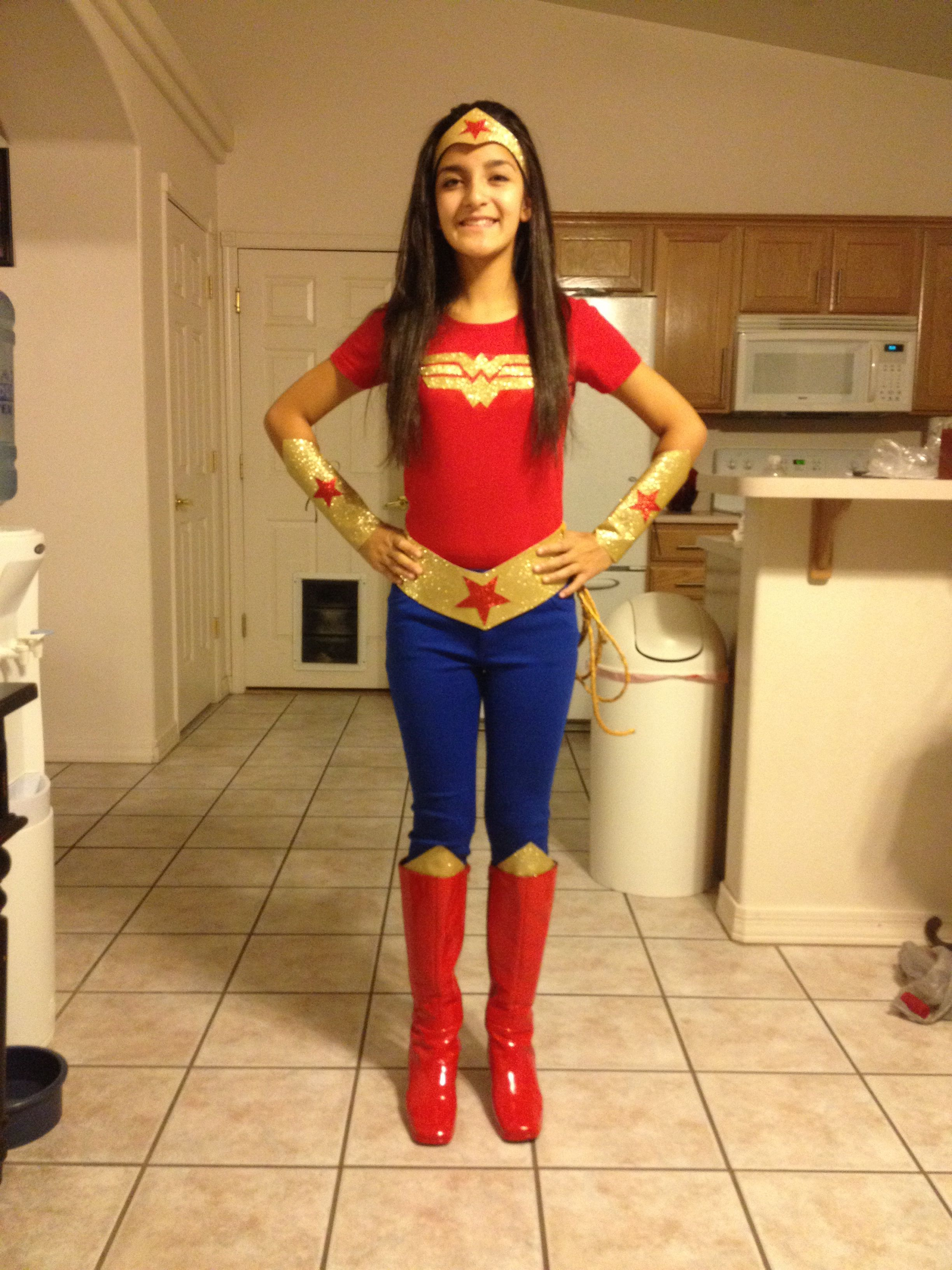 12+ DIY Superhero Costume Ideas for Kids Wonder Woman