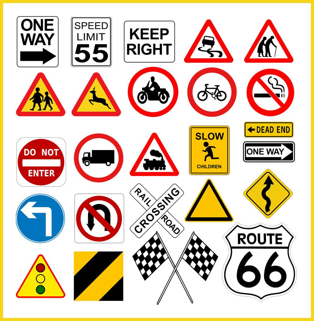 Traveling The Road Of Life Print Out Various Road Signs