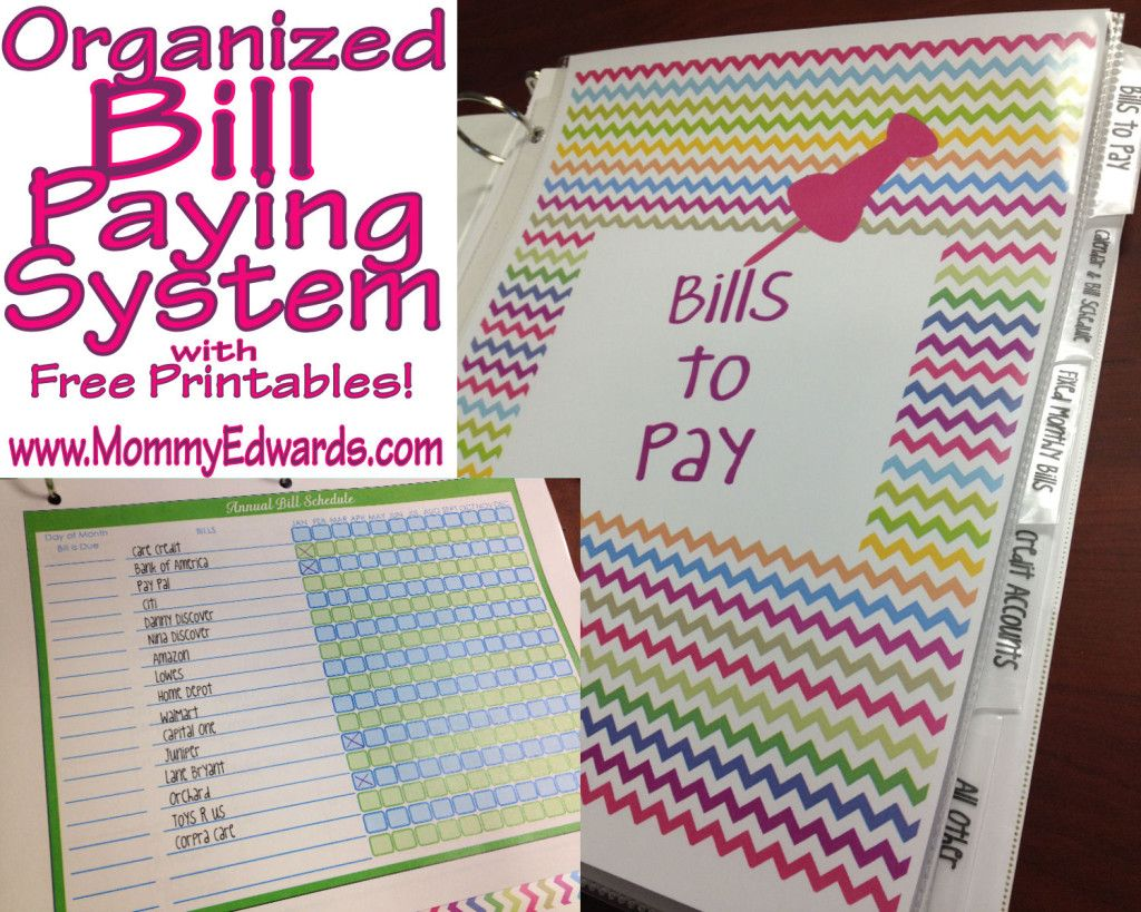 Giving Away One Free Bill Book On The Blog Free Bill