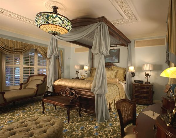 Room Victorian Comfy Bedroom Interior Decor Pendant Lamp Table Wall Pergola Curtain Arm Chair Gl Window Design For With