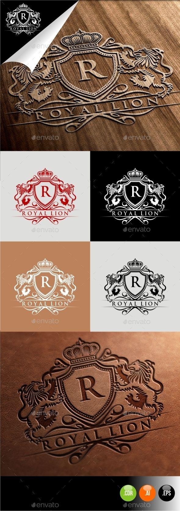 Royal Lion Lion vector, Lions and Crest logo