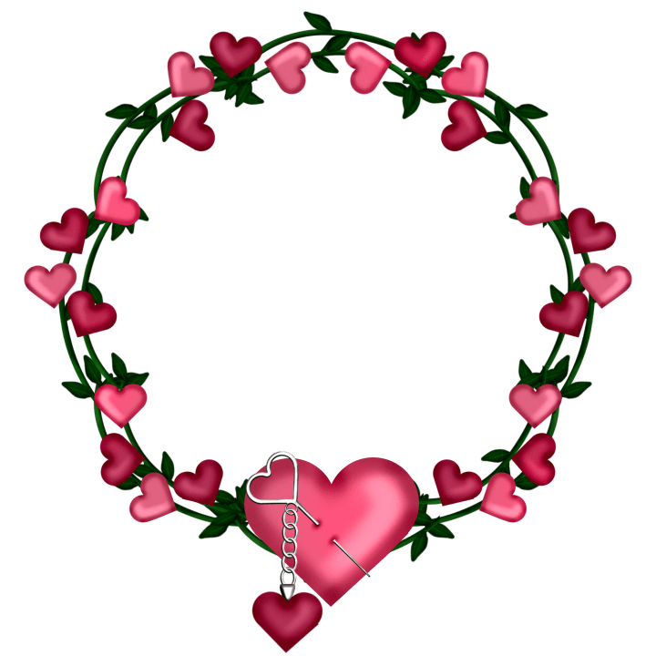 Transparent Frame Wreath with Hearts Hearts Pinterest
