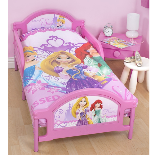 Disney Princess Sparkle S Pink Single Bed With Mattress