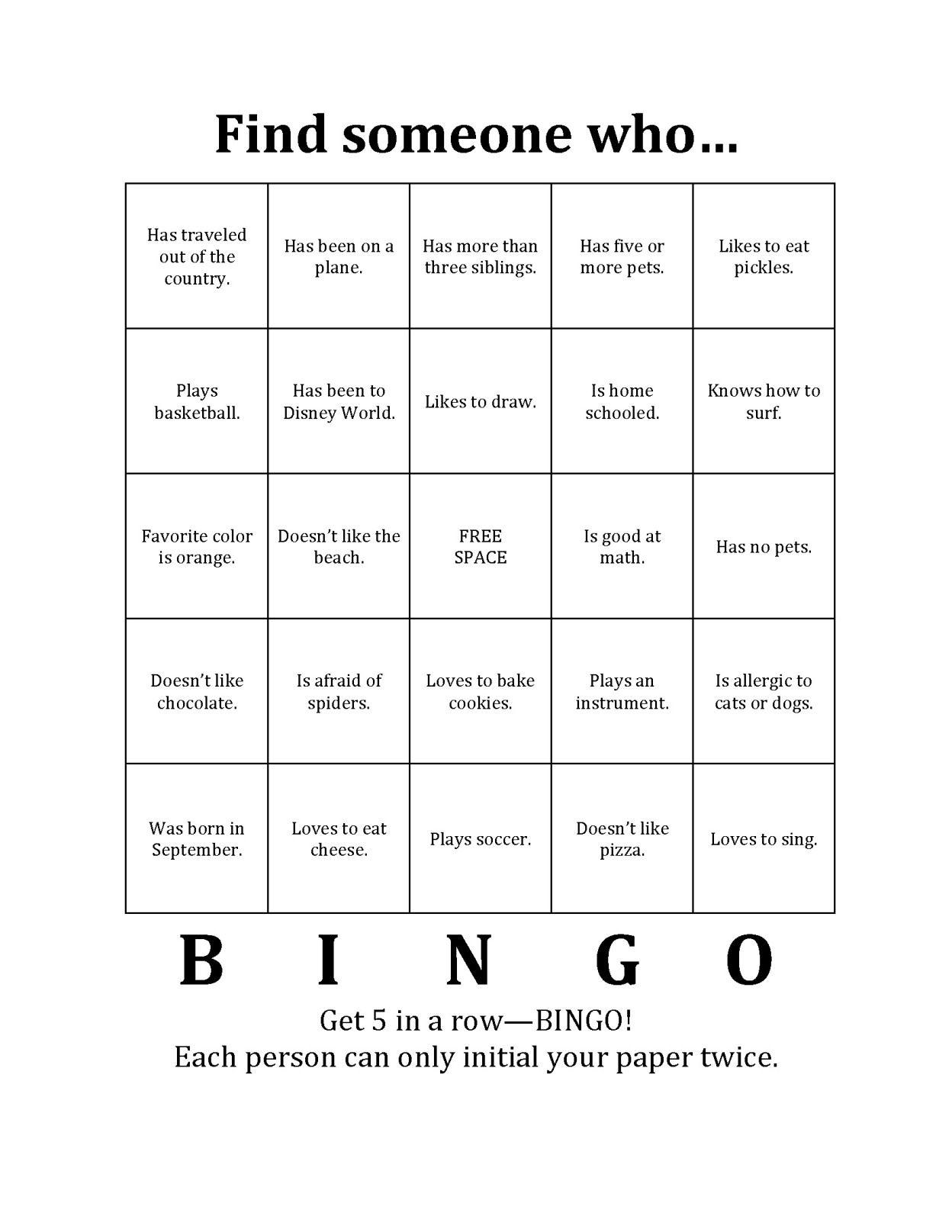 Bingo Icebreaker