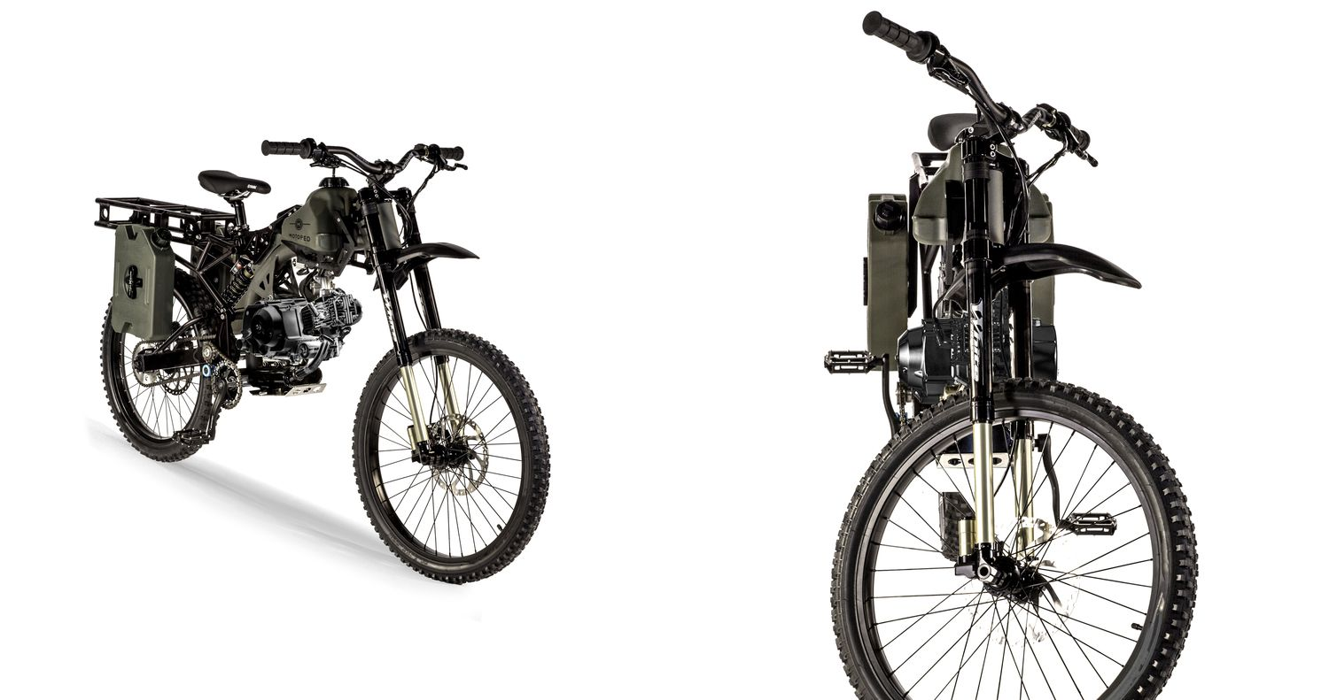 Survival Moped Heavy Duty Tires Versatile Heavy Duty Rear Rack And A 500 Mile Range Plus The