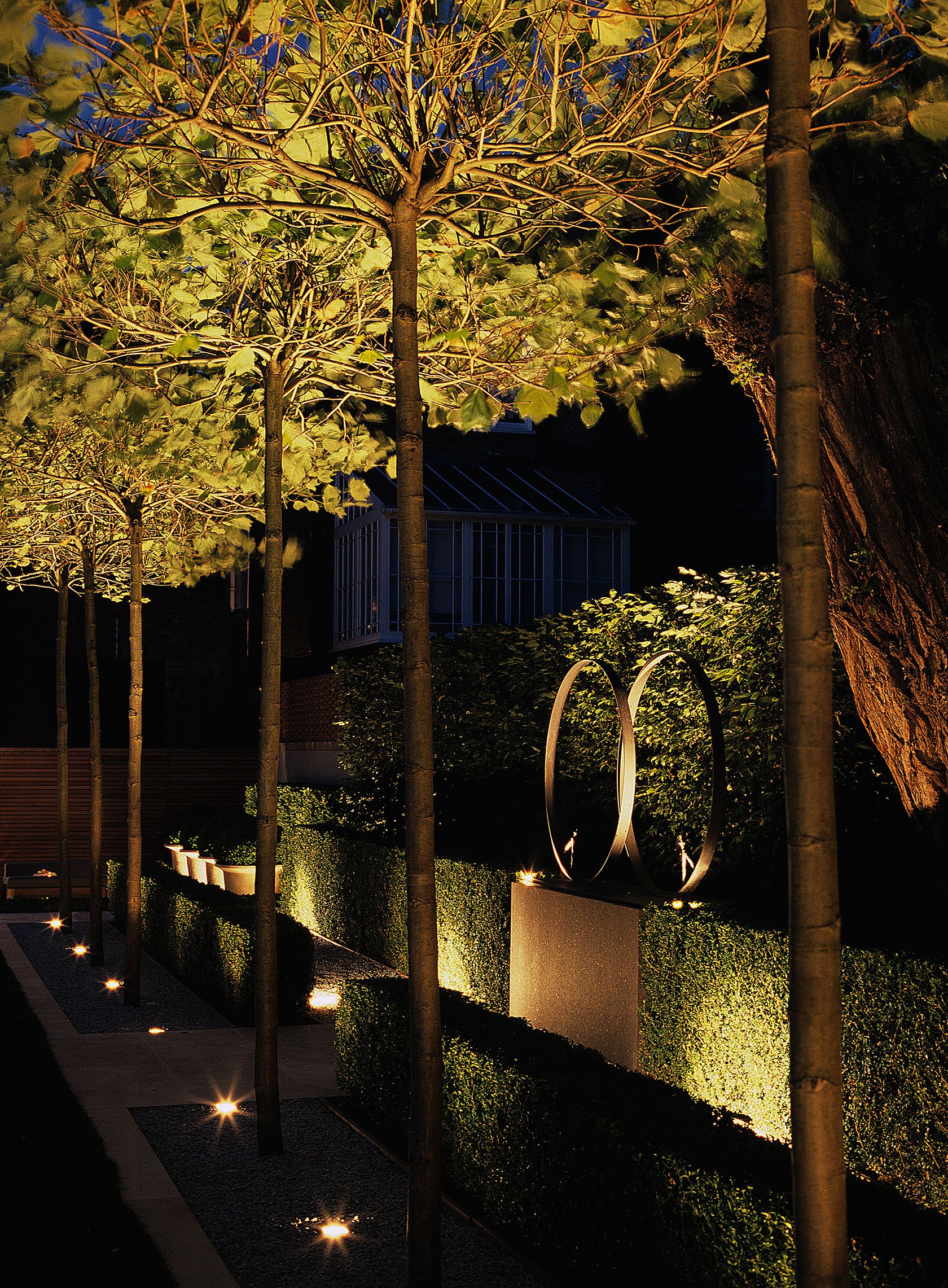 Uplighting Luciano Giubbilei Addison Road Garden