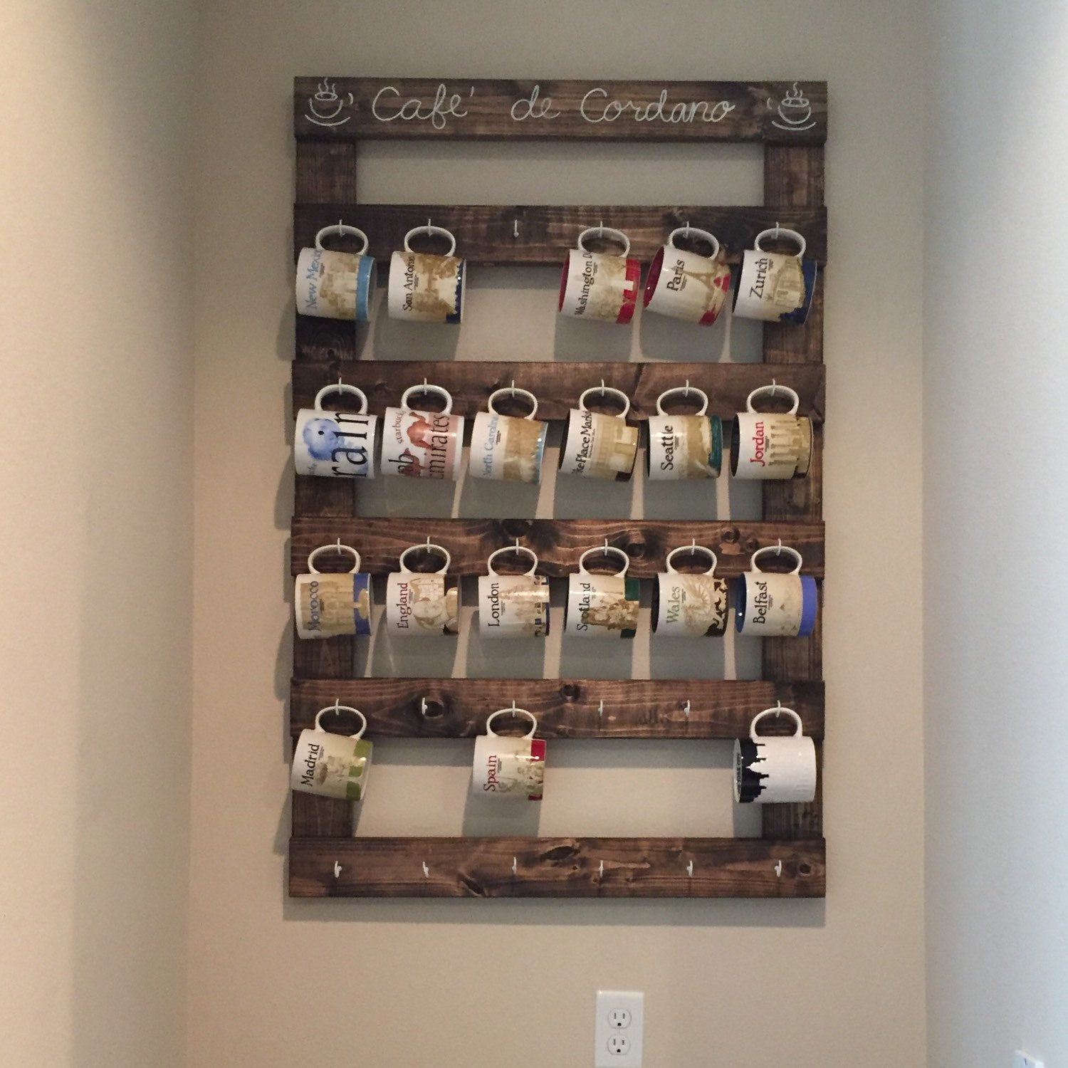 Large custom coffee mug rack photo a wonderful customer