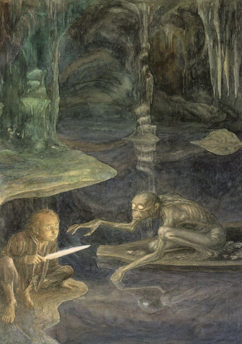 Gollum and Bilbo by Alan Lee Alan Lee Pinterest Alan