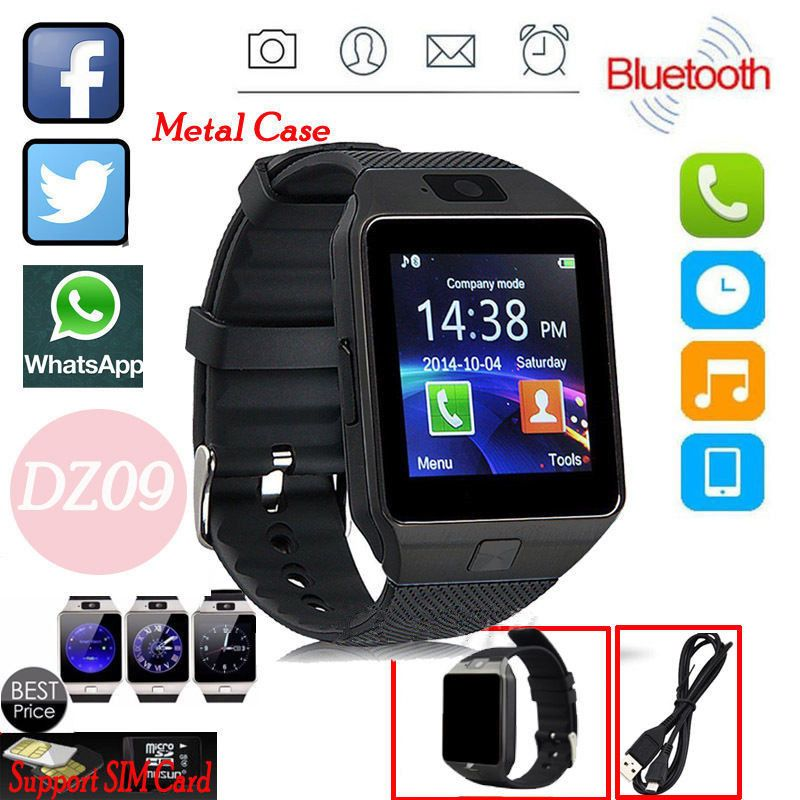 Dz09 bluetooth smart watch phone sim card for androidios