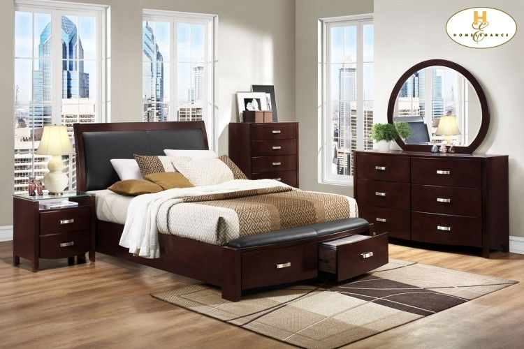 homelegance 1737nc lyric bedroom set with storage bed