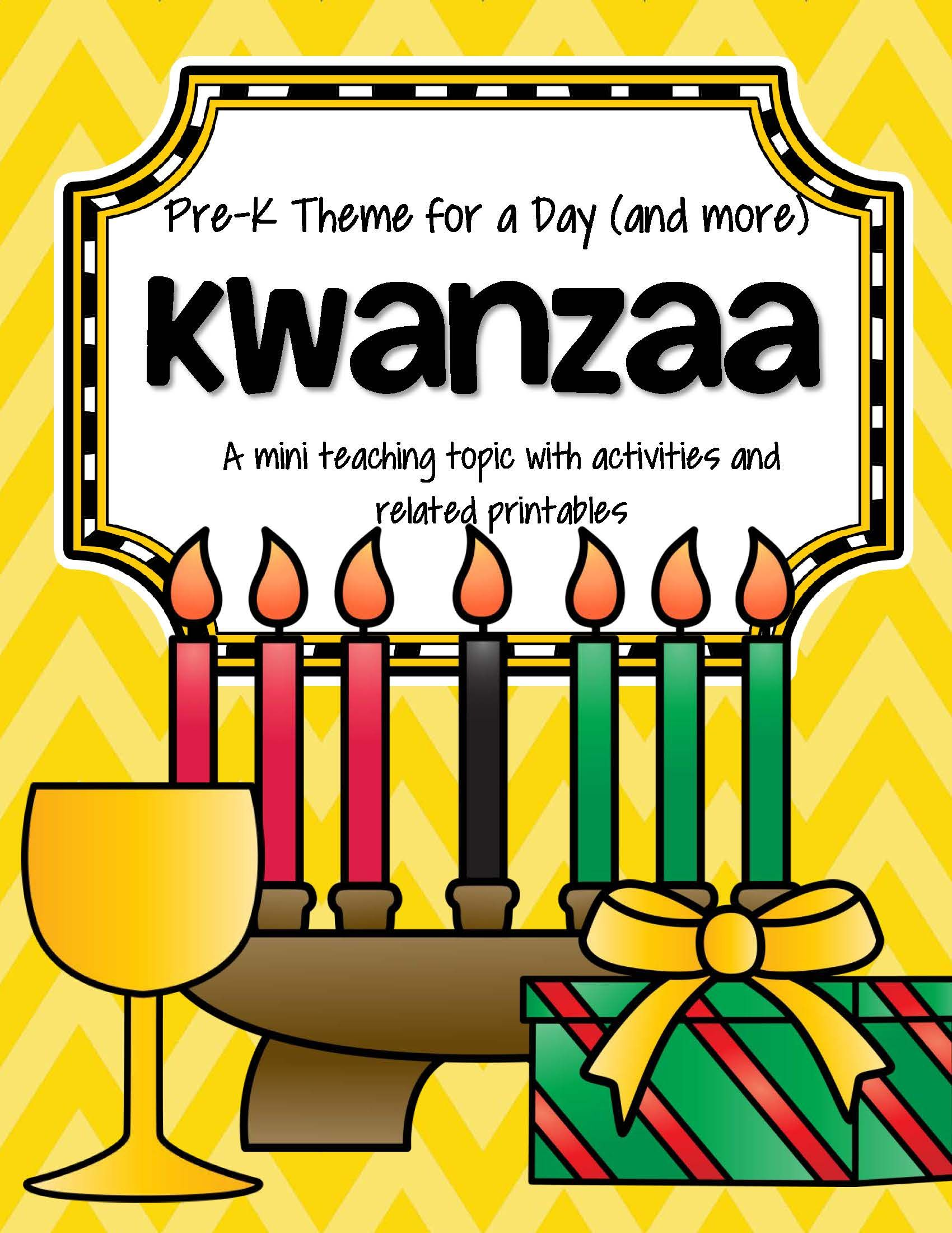 Kwanzaa Centers Activities And Printables For Preschool And Pre K 26 Pgs