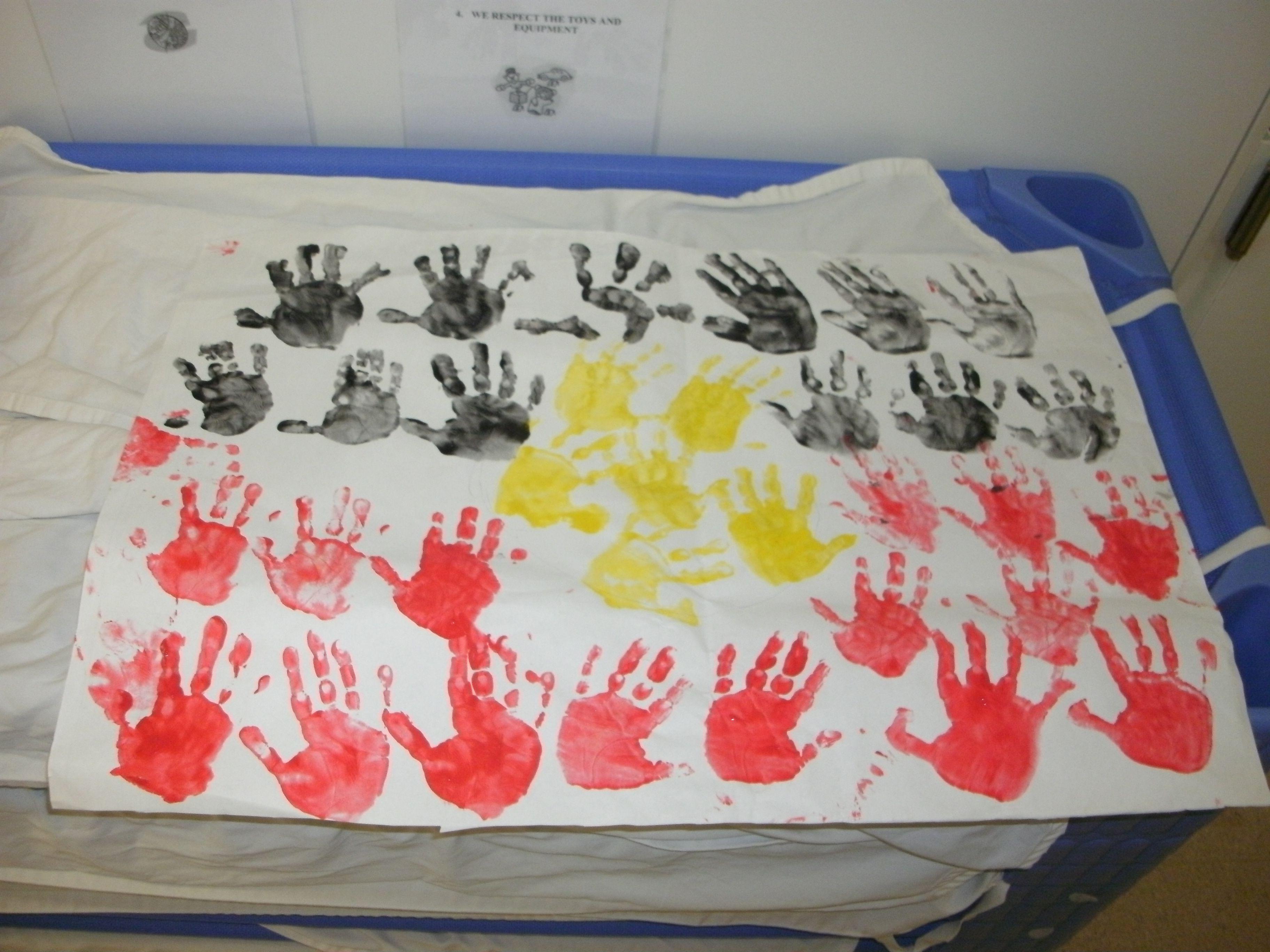 NAIDOC week hand print flag Juniors room 2012