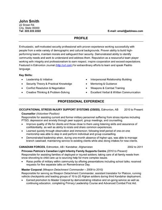 Military Resumes And Cover Letters. Breakupus Prepossessing Resume