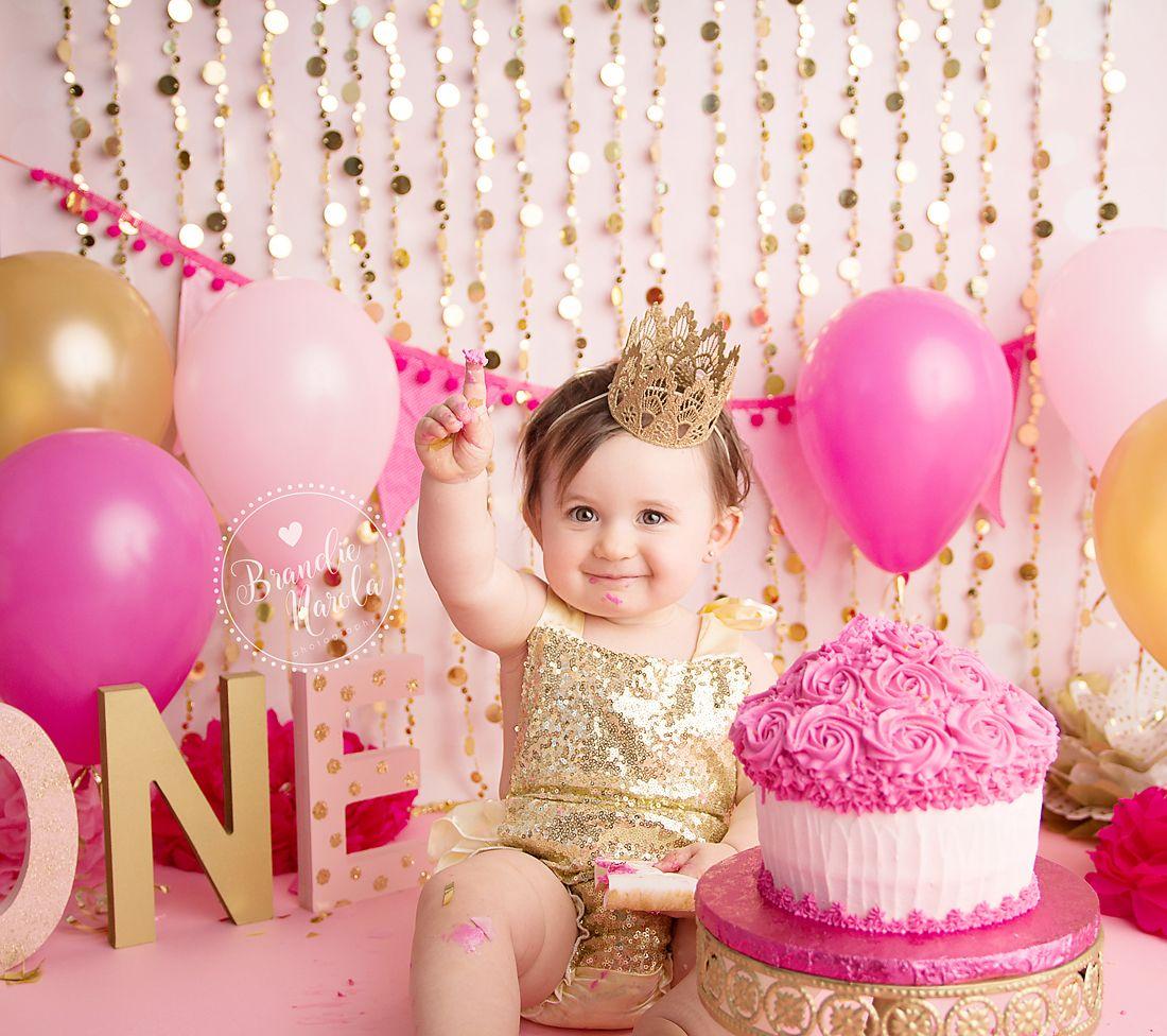 Cake Smash Pink And Gold Cake Smash Girl Cake Smash