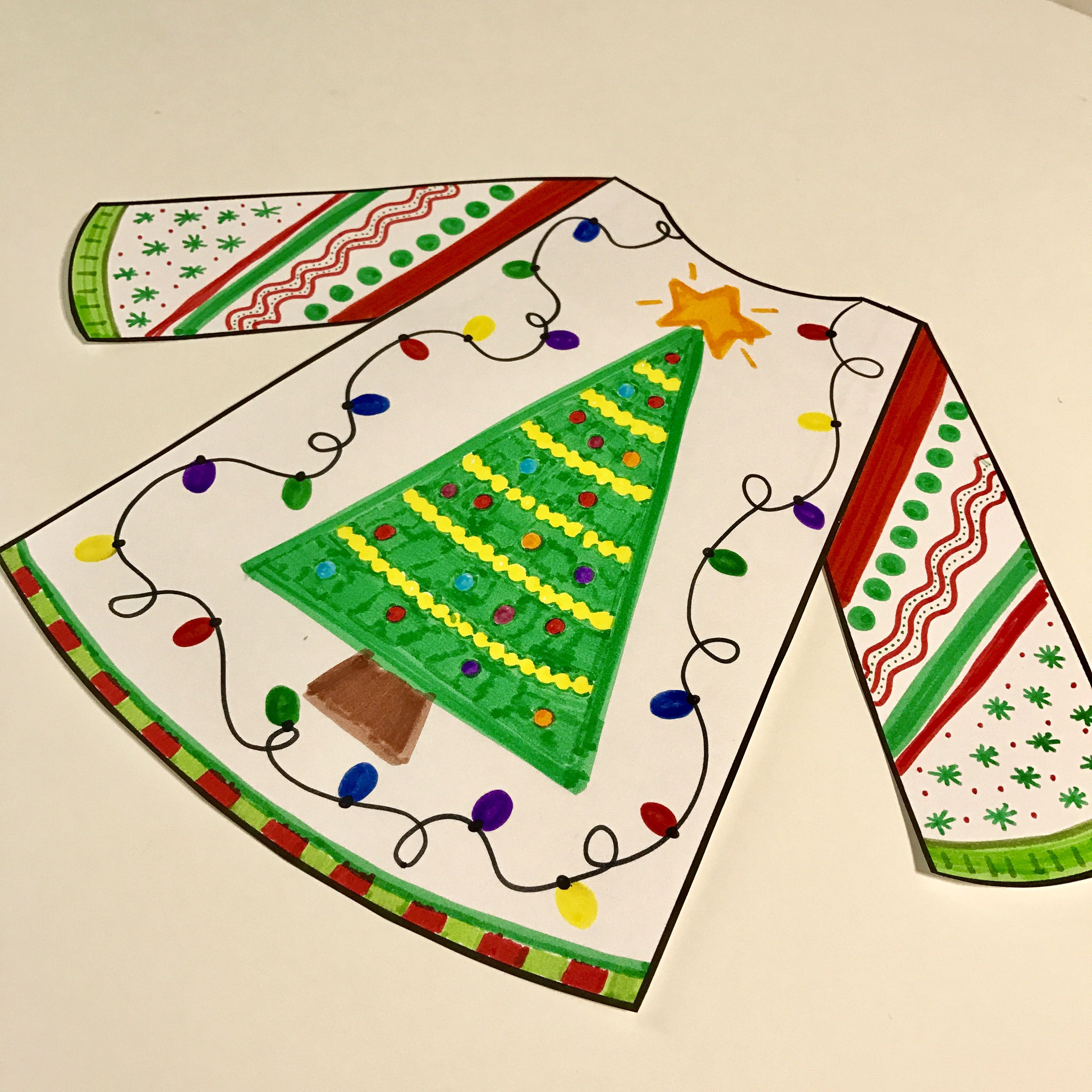Ugly Christmas Sweater Writing Craftivity Amp Inference Activity