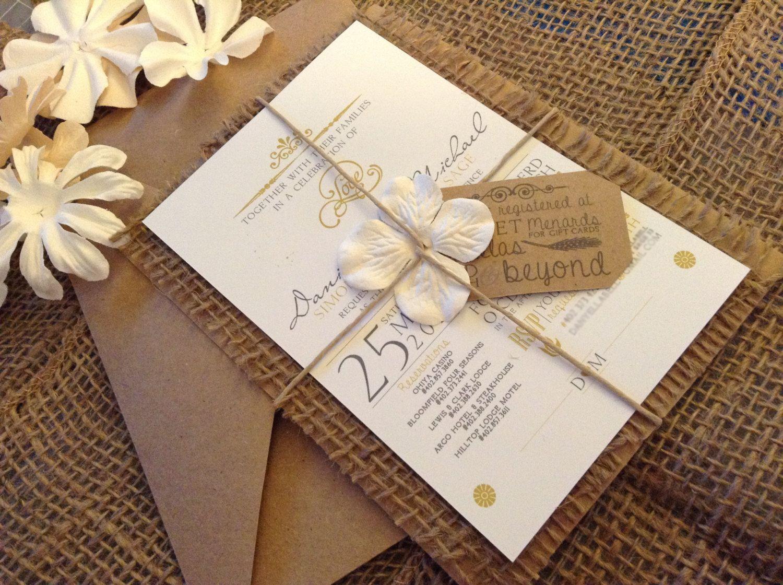 Best 25+ Burlap Wedding Invitations Ideas On Pinterest