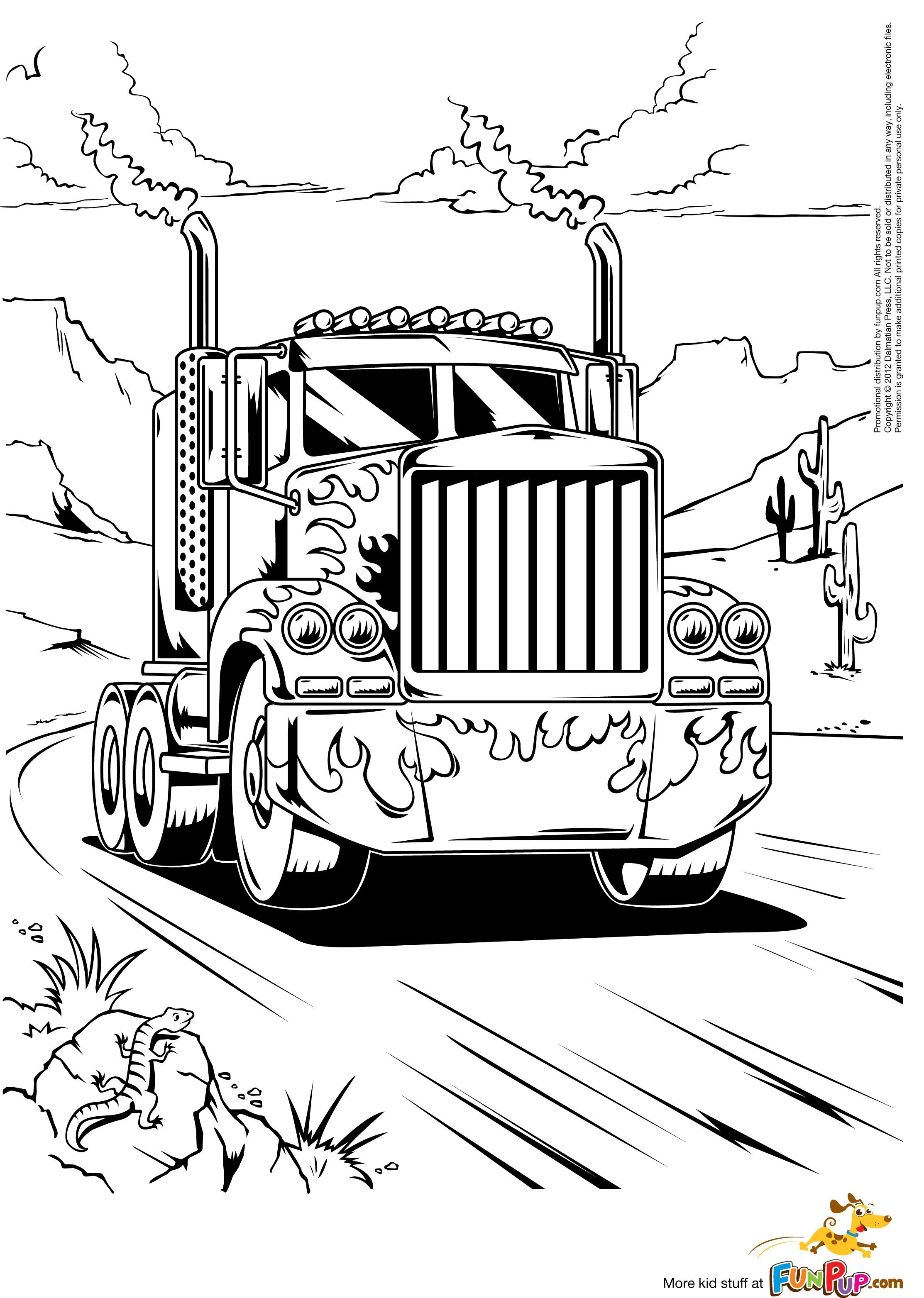 Semi Trucks Coloring Pages