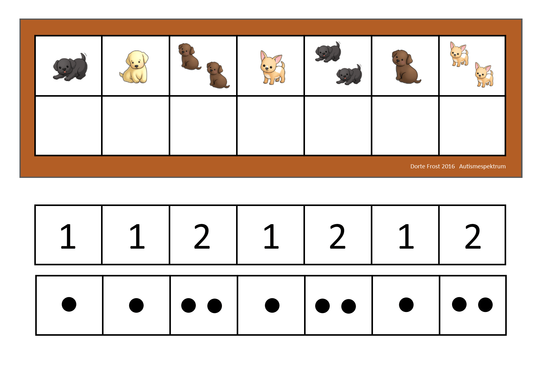 Counting Game Use Dots Or Numbers Depending On What Your Student Can Handle By Autismespektrum