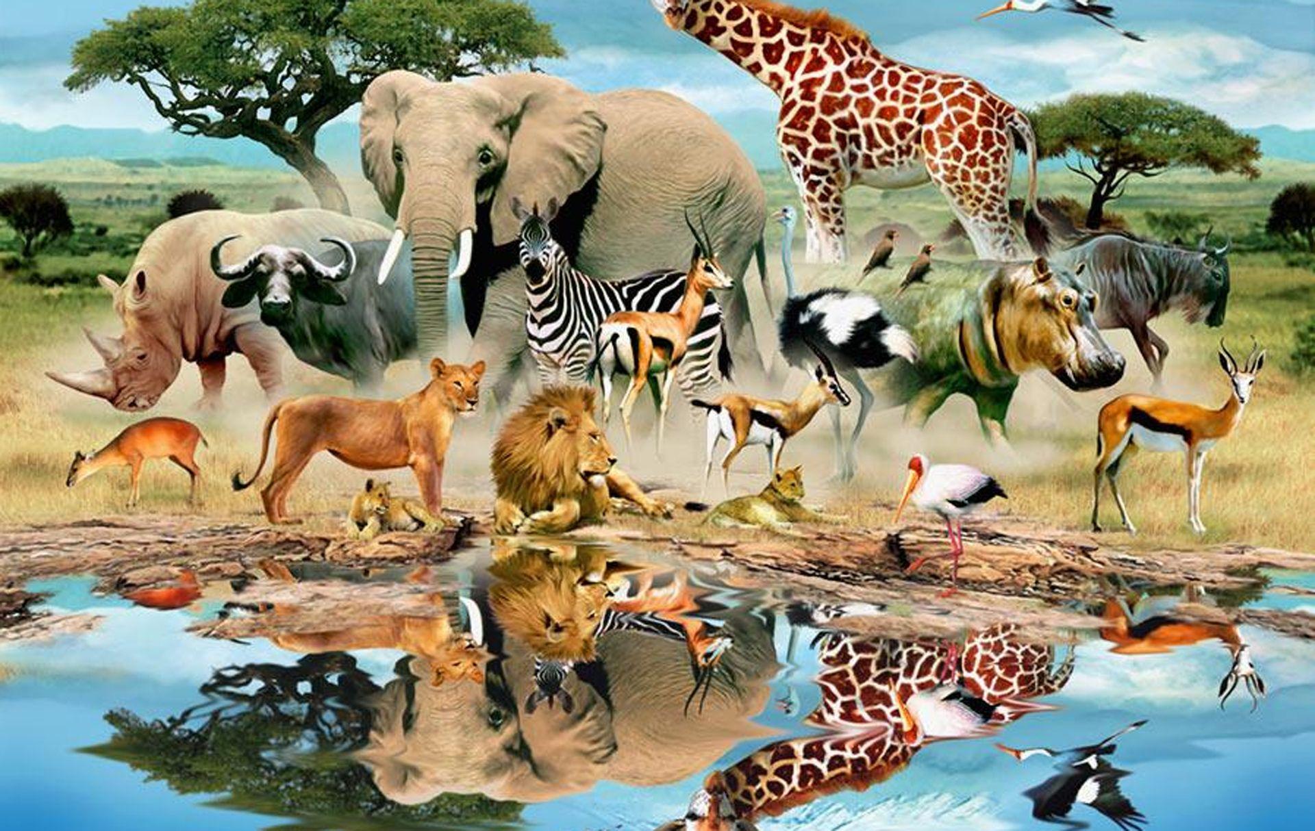 wateringholewildlifemural.jpg wildlife Pinterest