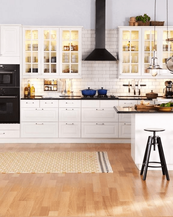 A kitchen that looks like it came out of an IKEA
