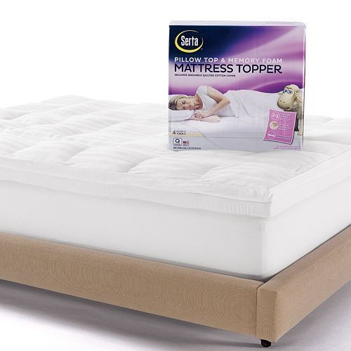Deep Pocket Pillow Top Memory Foam Mattress Topper Queen