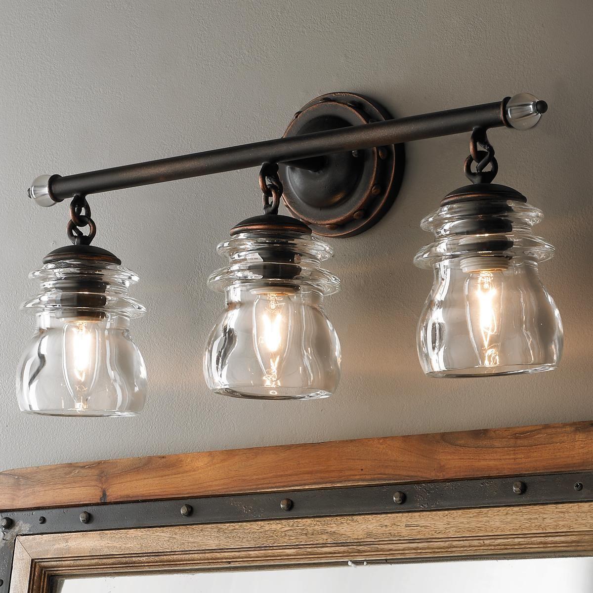 Insulator Glass 3Light Bath Light Bath light
