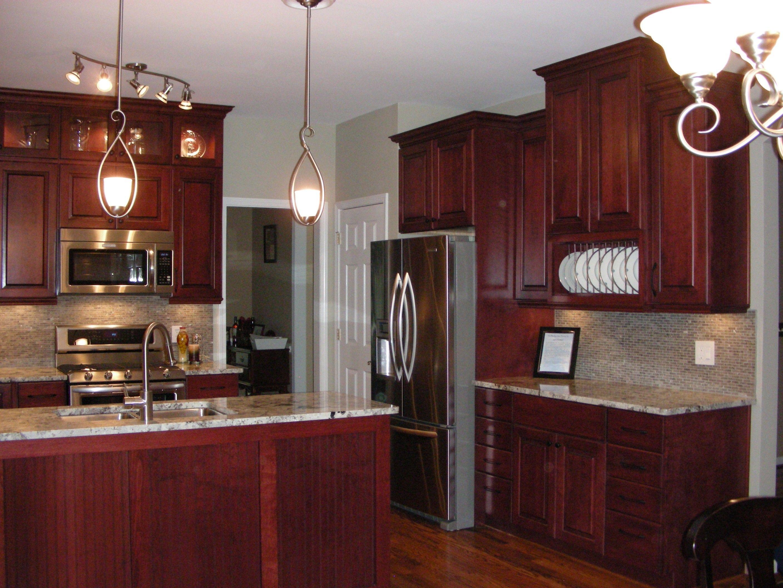 , Cherry Kitchen For Elegant Kitchen Countertop